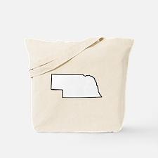 Nebraska State Outline Tote Bag