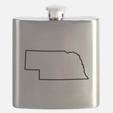 Nebraska State Outline Flask