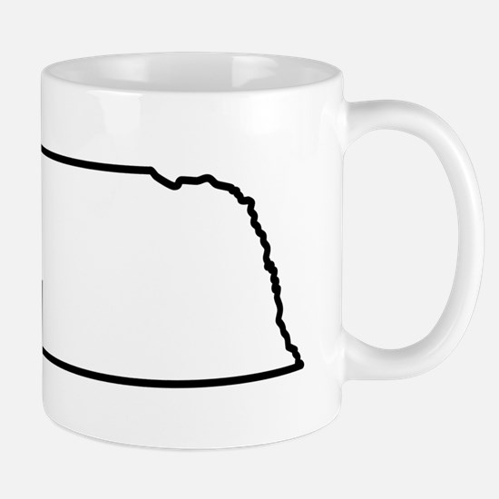 Nebraska State Outline Mug