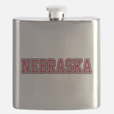 Nebraska Jersey Red Flask