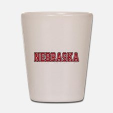 Nebraska Jersey Red Shot Glass