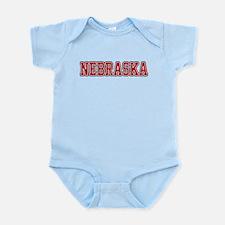 Nebraska Jersey Red Infant Bodysuit