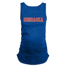 Nebraska Jersey Red Maternity Tank Top