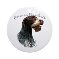 Wirehaired Dad2 Ornament (Round)