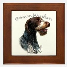 Wirehaired Dad2 Framed Tile