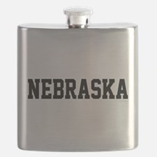 Nebraska Jersey Black Flask