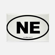 Nebraska NE Euro Oval Rectangle Magnet