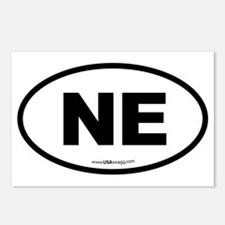 Nebraska NE Euro Oval Postcards (Package of 8)