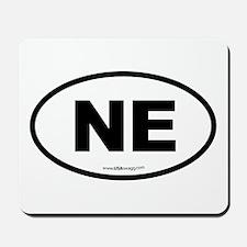 Nebraska NE Euro Oval Mousepad