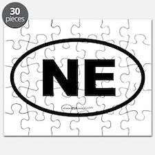 Nebraska NE Euro Oval Puzzle