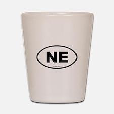 Nebraska NE Euro Oval Shot Glass