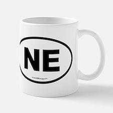 Nebraska NE Euro Oval Mug