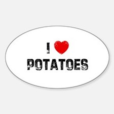 I * Potatoes Oval Decal