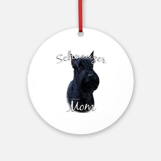 Schnauzer Mom2 Ornament (Round)
