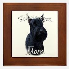 Schnauzer Mom2 Framed Tile