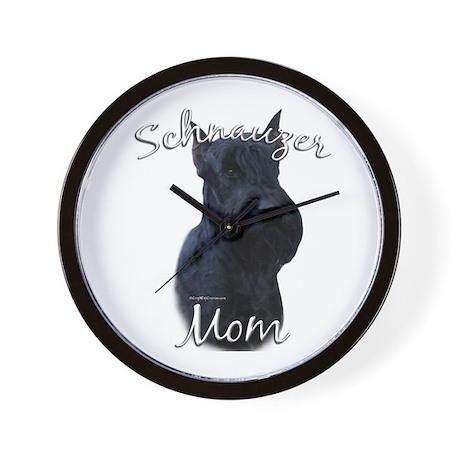 Schnauzer Mom2 Wall Clock