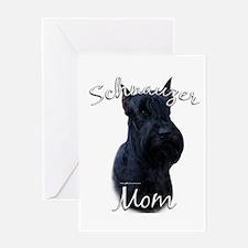 Schnauzer Mom2 Greeting Card