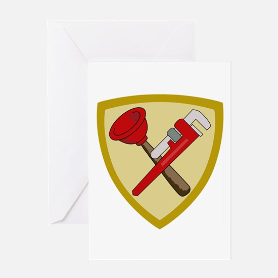 Plumbers Shield Greeting Cards