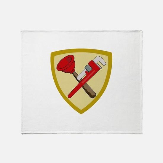 Plumbers Shield Throw Blanket
