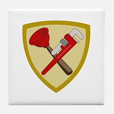 Plumbers Shield Tile Coaster