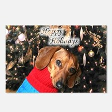 Happy Holidays Doggie Postcards (Package of 8)