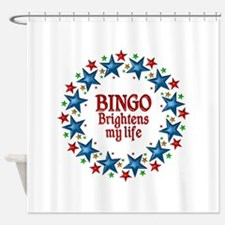 Bingo Brightens My Life Shower Curtain