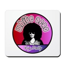 White Afro Rig Daddy Mousepad