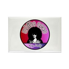 White Afro Rig Daddy Rectangle Magnet