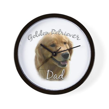 Golden Dad2 Wall Clock