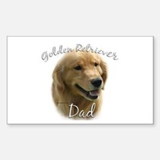Golden Dad2 Rectangle Decal