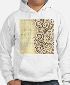 country beige burlap lace Jumper Hoody