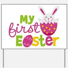 Girl's First Easter Yard Sign