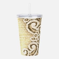 country beige burlap l Acrylic Double-wall Tumbler