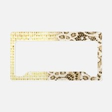 country beige burlap lace License Plate Holder
