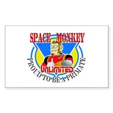 Space Monkey Rectangle Decal