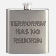 Terrorism Has No Religion Flask