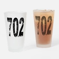 Las Vegas Area Code 702 Drinking Glass