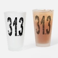 Detroit Area Code 313 Drinking Glass