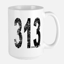 Detroit Area Code 313 Mugs