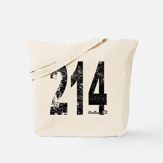 Dallas Area Code 214 Tote Bag