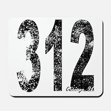 Chicago Area Code 312 Mousepad