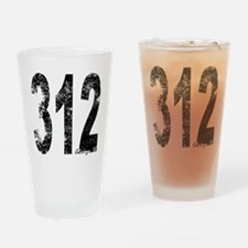 Chicago Area Code 312 Drinking Glass