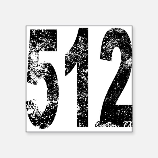 Austin Area Code 512 Sticker