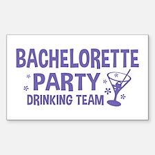 Bachelorette Party Drinking Te Sticker (Rectangle)