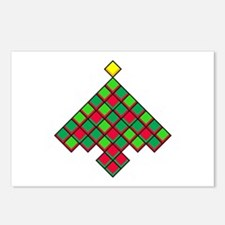 xmas quilt treesave nb bl Postcards (Package of 8)