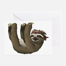 Funny Sloth Greeting Card