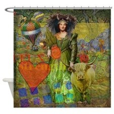 Vintage Taurus Gothic Whimsical Collage Woman Fant