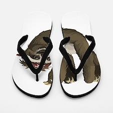 skull sloth Flip Flops