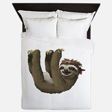 skull sloth Queen Duvet