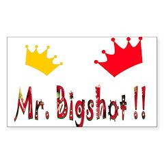 Mr. Bigshot Rectangle Sticker